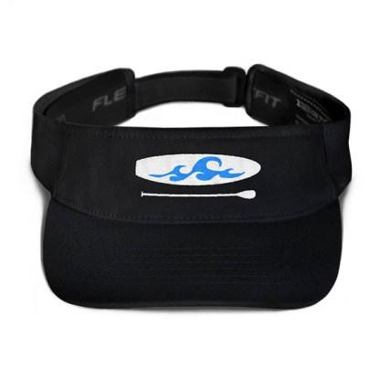 Paddleboard visor in Black with Aqua