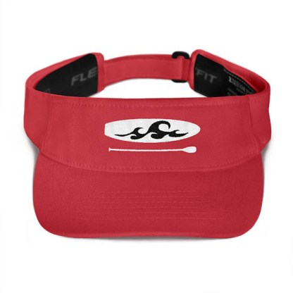 Paddleboard visor in Red with Black