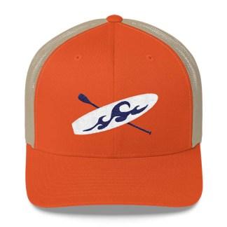 Paddleboard Trucker Hat in Orange