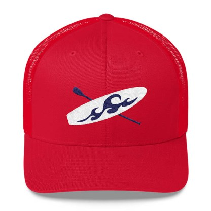 Paddleboard Trucker Hat in Red
