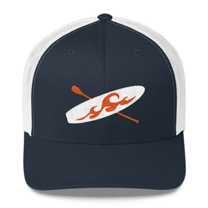 Paddleboard Trucker Hat in Navy and White