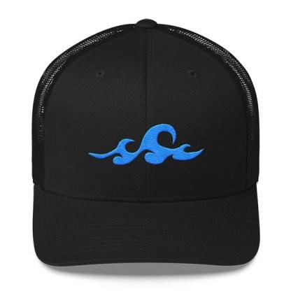 Waves Trucker Hat in Black
