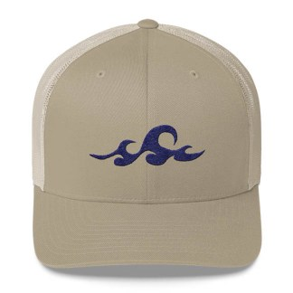 Waves Trucker Hat in Khaki