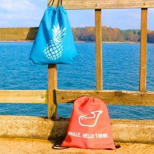 Beach drawstring bags