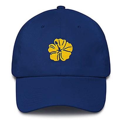Hibiscus Royal Blue Baseball Hat