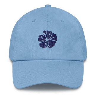 Hibiscus Carolina Blue Baseball Hat