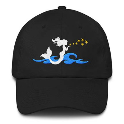 Mermaid Kisses Baseball Hat Black