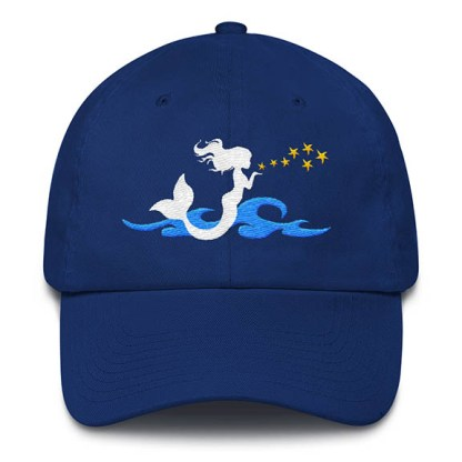 Mermaid Kisses Baseball Hat Royal Blue