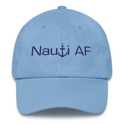 Nauti AF Baseball Hat Carolina Blue