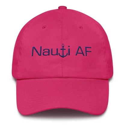 Nauti AF Baseball Hat Hot Pink