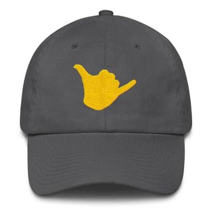 Shaka Baseball Hat Grey