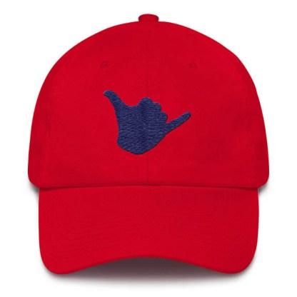 Shaka Baseball Hat Red