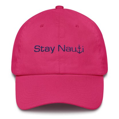 Stay Nauti Baseball Hat Hot Pink