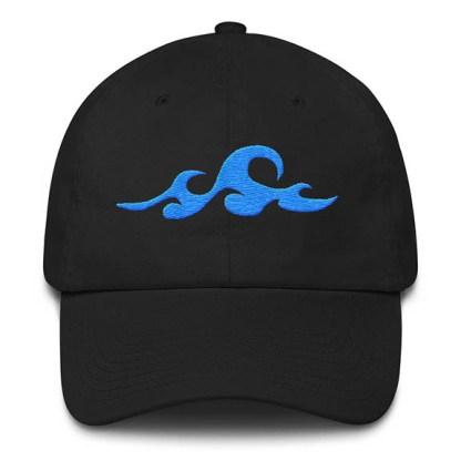 Waves Black Baseball Hat