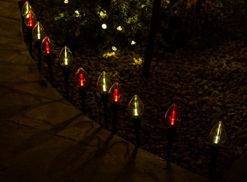 Candy Cane pathway lighting