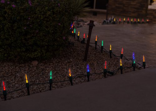 Multi Colored Pathway Lighting