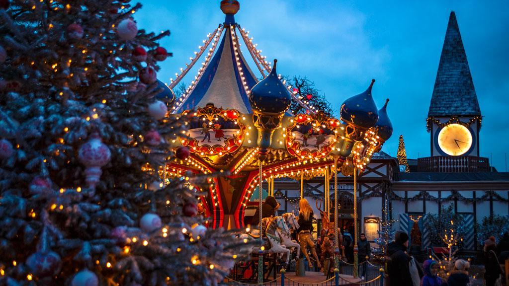 christmas light display in copenhagen
