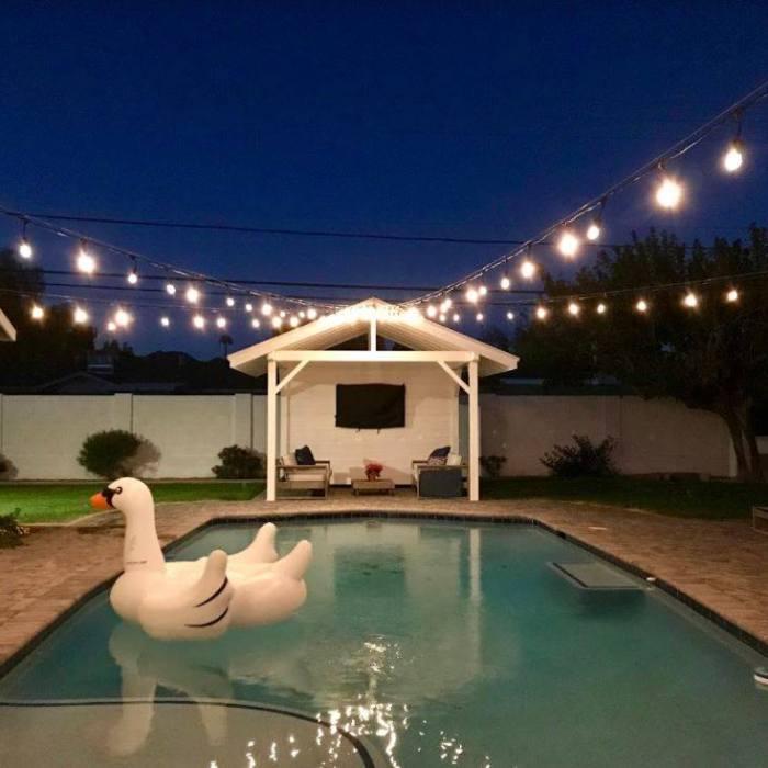 Custom Pool Bistro Lighting