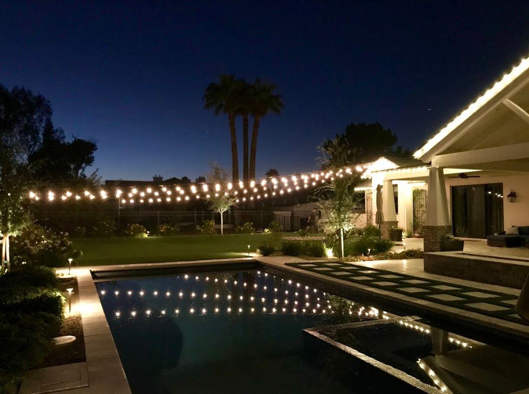 pool landscape lighting phoenix az
