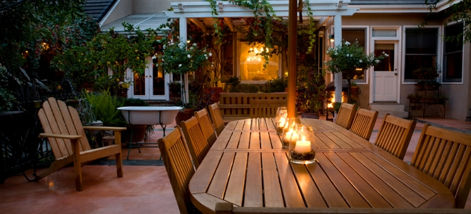outdoor lighting ideas for patios - candles