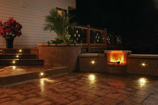 outdoor lighting ideas for patios - led lights