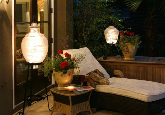 outdoor lighting ideas for patios - lamps