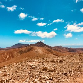 hiking over the Mountains and volcanos (Fuerteventura )