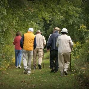 seniors on a hike