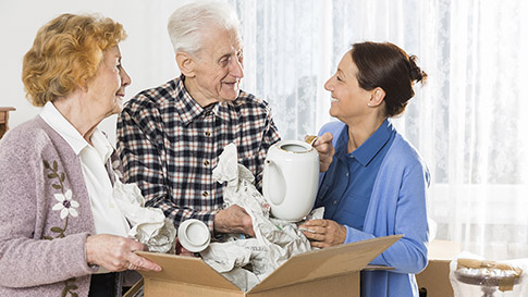 seniors moving in to a CCRC