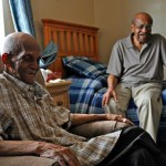 2 senior veterans at home