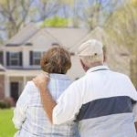 copule looking at continuing-care retirement community at home
