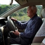 elderly japanese man driving
