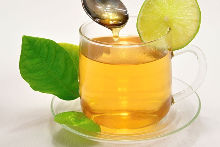 Warm water with lemon and honey