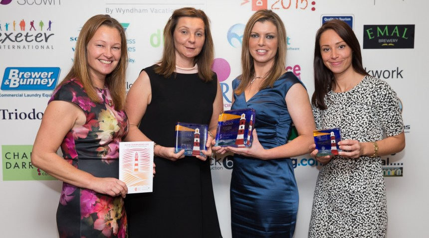 Winners all: Congratulated at the awards ceremony were (left to right) Beverley Holidays & Whitehill Country Park marketing director Claire Jeavons, deputy managing director Nicola Jeavons, HR director Katy Lamsin, and marketing manager Caroline Merry.