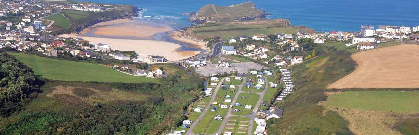 Five minutes from holiday hot-spot Newquay, and just a short stroll from one of Cornwall's loveliest beaches