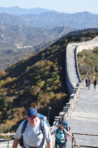 Great views, but a lot of ups and downs along the wall's length