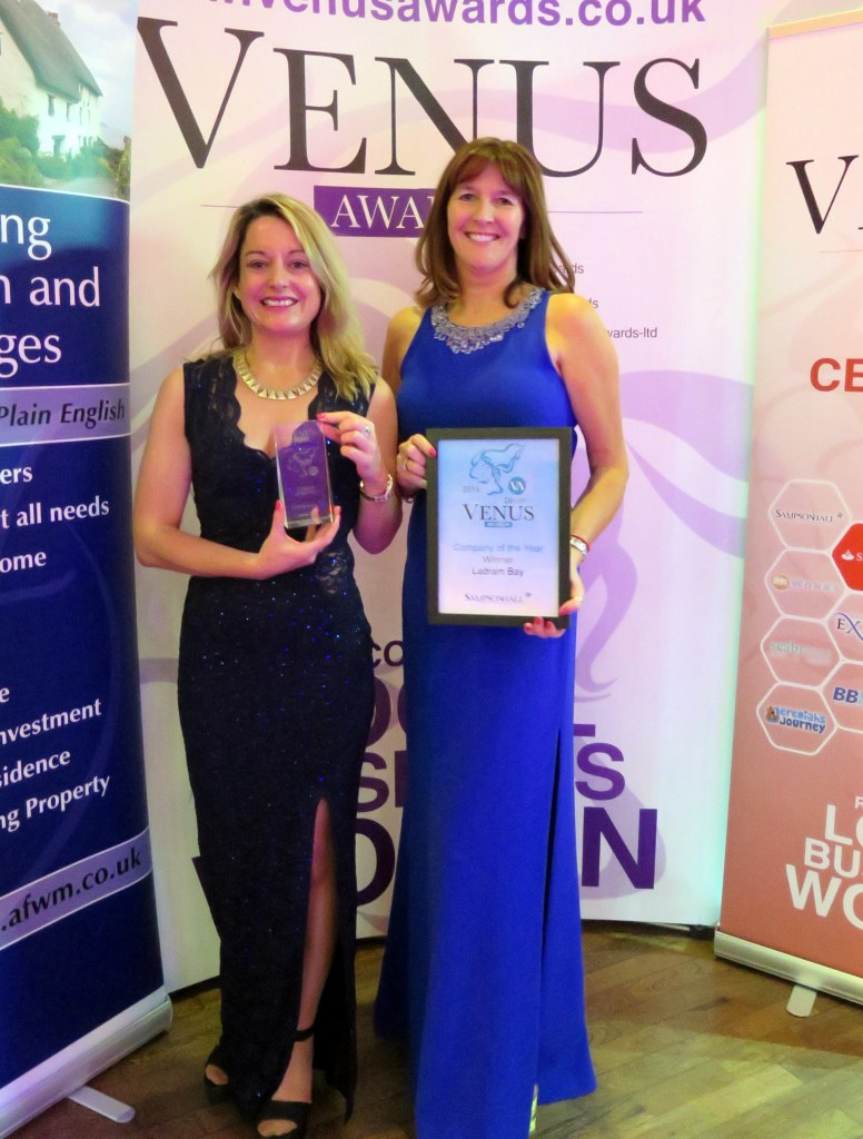 IN THE SPOTLIGHT: Ladram Bay's general manager Claire Williams (left) and director Zoe House