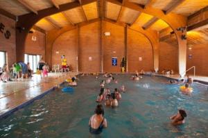 Swimming pools, such as at Searles Leisure Resort (above) help families make the most of their leisure, says Paul