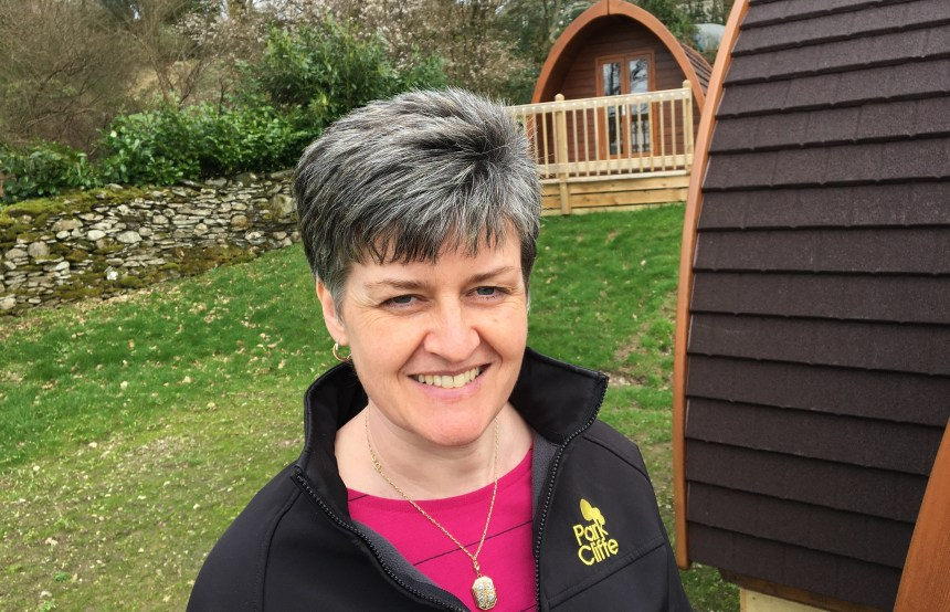 Susan Dickson (above) says she and her husband are honoured to be standard bearers for Cumbria's holiday parks