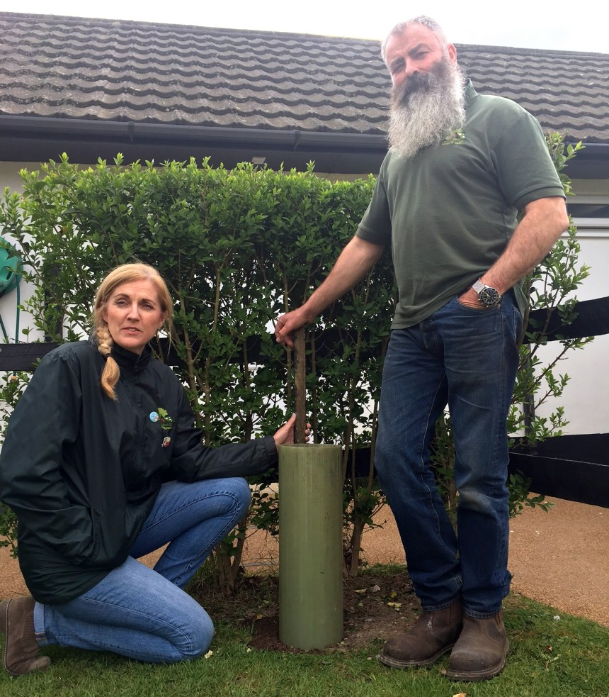 Jaqui and Nick Oldfield (above) are continuing to plant high nectar bearing blooms and shrubs at their park