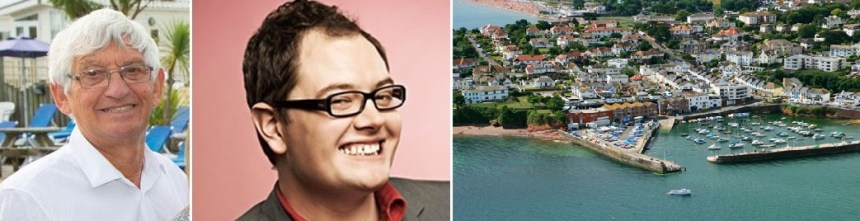 When Alan Jeavons (left) met Alan Carr on air, the talk was of the glorious English Riviera they both love