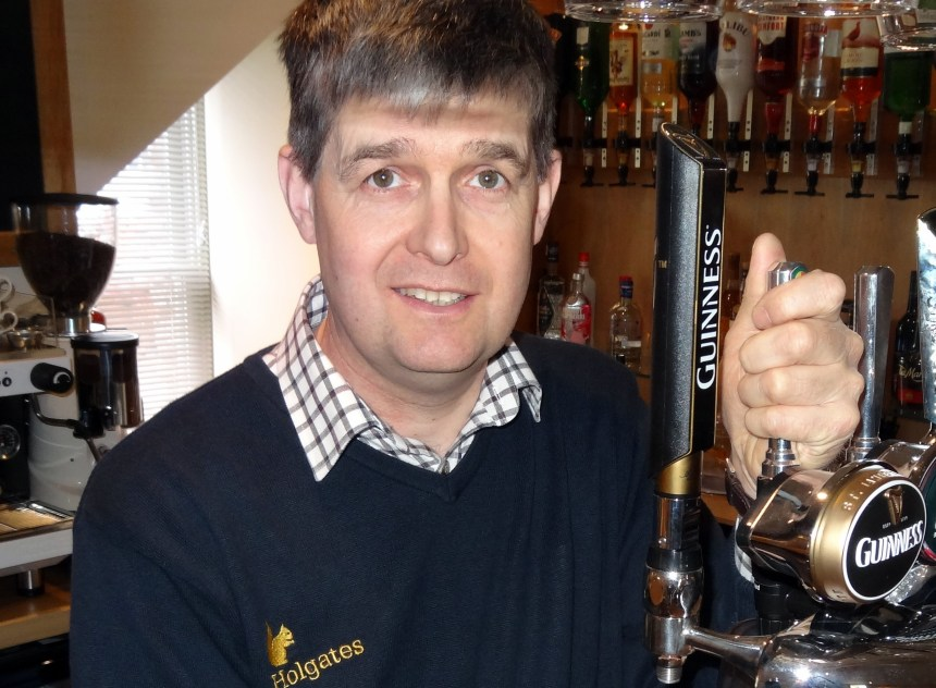 Michael Holgate of Silverdale holiday park at The Royal pub where its Pimms jelly has come under fire
