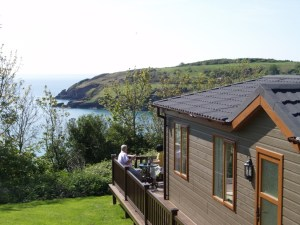 Lodges at Riviera Bay holiday park in Devon have great sea views