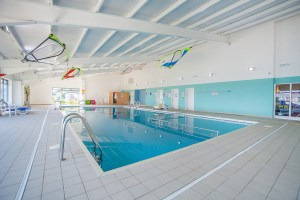 A superb indoor pool is among the many guest facilities at the park