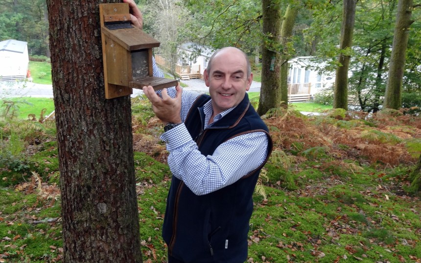 Henry Wild says that a special seed blend with aniseed, loved by red squirrels, will help sustain Skelwith's colonies