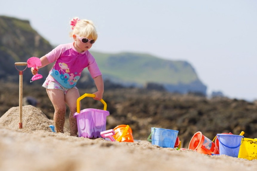 It's the beach, and not the bin, where unwanted buckets and spades end up at Newquay's Hendra Holiday Park