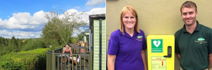 At The Glen holiday park in Shropshire (above) the defibrillator could greatly increase a victim's life chances