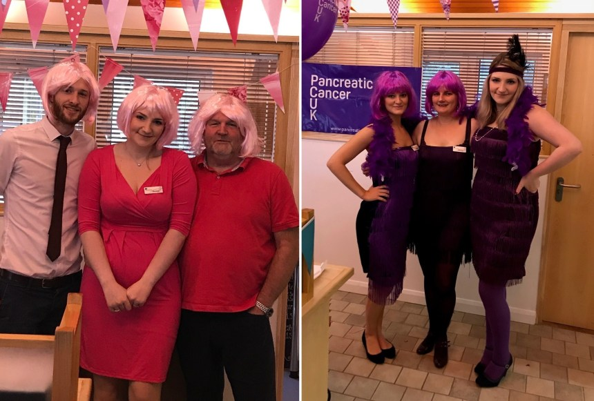 Staff at Silverdale went pink and purple as part of this autumn's fundraising initiatives which raised over £2,000