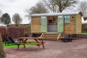 Shepherd huts fit for a king are among the glamping options