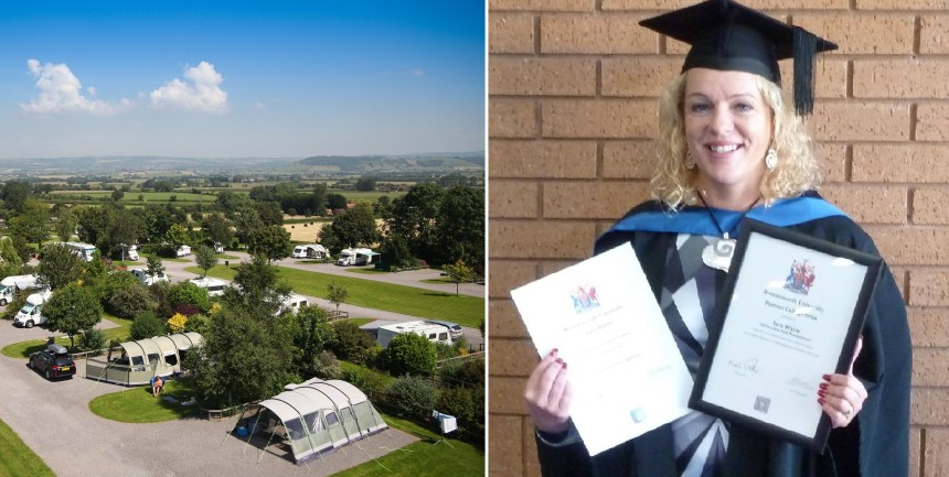 Double firsts: As Old Oaks took the top spot in the AA awards, manager Tara celebrated two student honours